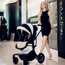 Wholesale Two Way Stroller - Fashion Two-Way Available Baby Stroller Baby Pram, High Landscape Folding Pushchair, Baby Trolley for 0~36 Months Kids