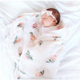 Дышащие детские одеяла онлайн-2 Слоя Детские Одеяла Новорожденных Фотографии Аксессуары Мягкая Дышащая Пеленание Wrap Младенческая Бамбука Хлопок Детское Постельное Белье Полотенце