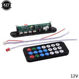 Wholesale Power Supply Board Usb - High Quality DC 5V 12V Micro USB Power Supply TF Radio MP3 Decoder Board 5V Audio Module for Car Remote Music mp3 Speaker