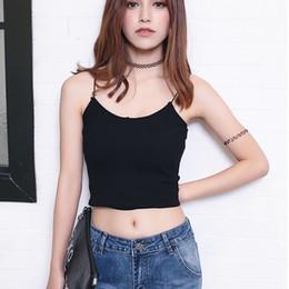 Wholesale U Base - Brand Design Women U neck Stripe Camis Base crop tops tank tops