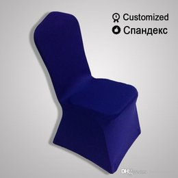 Wholesale Royal Blue Spandex Chair Covers - ceremony universal royal blue case for chair Restaurant durable pink chair covers meeting room stretch elastic ivory slipcovers in feast set