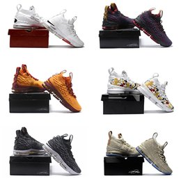 Wholesale Ghost Black - with box James 15 Ashes Ghost Cavs Floral equality off Men Basketball Shoes Black Gold Sports Shoes Mens Trainer Shoe James 15s Sneaker