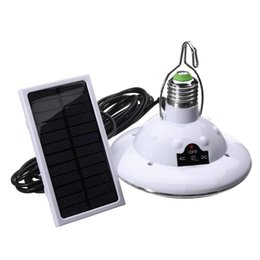 Wholesale outdoor portable hanging light - Waterproof 22 LED Solar Light Outdoor Garden Light Solar Powered Yard Hiking Tent Camping Hanging Lamp Remote Control UFO lamp