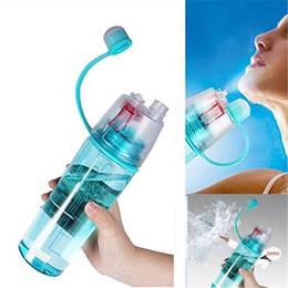 2019 garrafas de água em forma de animais Garrafa de Esportes 400 / 600ml Spray Caminhadas Ciclismo Portátil Névoa De Água Potável Spray De Atomização Portátil Esportes Garrafa