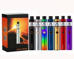 Wholesale baby starter kits - SMOKING STICK V8 Starter Kit With TFV8 Big Baby 3000mAh 0.3ohm V8 Baby M2 Dual Coils subvod mega pen 7 colors