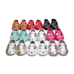 Wholesale Baby Walking Sandals - 2018 new summer baby girl sandals toddler shoes princess shoes genuine leather first walking shoes 0101165