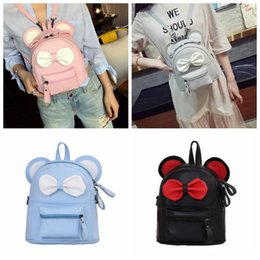 4 Colors Cute Bowknot Mini Black Backpack PU Leather Fashion Sweet Bow  Design Small School Bag Women Travel Shoulder Bag CCA9869 15pcs discount  bowknot ... 36d2734957eb9