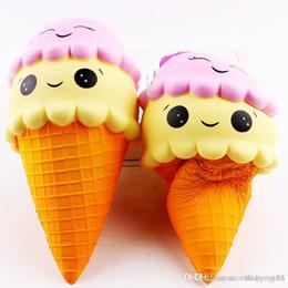 2019 bambole di smiley face Squishy Cartoon Doppio Faccina Ice Cream Squishies bambola Lento aumento Dolce charms profumato Cibo rimbalzo Pane Kid Toys Decompressione T100 sconti bambole di smiley face