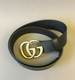 Wholesale Real Leather Belts For Women - HOT ! Classic style designer belt 3.8cm wide with double alphabet G luxury brand buckle belt real picture 105-125cm good quality for gifts