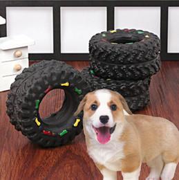 Canada Jouets anti-stress de chien pour petit chien chiot Pet Chew Squeaky caoutchouc jouets pneu forme Pet fournitures Offre