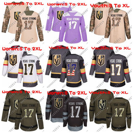 Wholesale Women Red Service - Women Youth 17 Vegas Strong Hockey Jersey Vegas Golden Knights USA Flag 2018 Fights Cancer Camo Veterans Day Green Premier Salute To Service