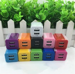 Wholesale cell phone port plugs - cell phone chargers US Plug 2A Dual USB Wall Adapter 2 Port for i7 i6 HTC Samsung etc.