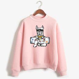Wholesale Korea Women Clothes - LUCKYFRIDAYF Love Yourelf K-pop Bangtan Boys Cartoon Dog X BTS Female Fans Hoodie Sweatshirt Women Korea Fashion Casual Clothes
