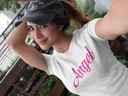 Sexy t-shirt sprüche online-Das T-Stück Engels-T-Shirt der Frauen Geschenk für ihr reizvolles Spitzen-Engels-Rosa-Farbsprüche Tumblr kleidet Instagram-Outfit-Mode-T-Shirt