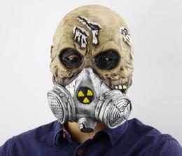 Vrais accessoires en Ligne-Biochimique Squelette Masque Halloween Effrayant Réal Horrible Effrayant Ghastful Masques Cosplay Costumes Mascarade Fournitures Props De Fête