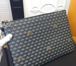 Wholesale Envelope Bag Leather Men - Top Quality France paris style royal Designer famous brand men women Luxury clutch bag purse handbag