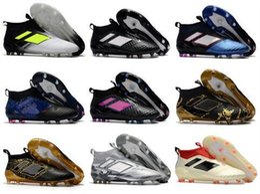 2019 zapatos de fútbol de corte alto 2019 Zapatos de fútbol con descuento Originales ACE 17+ PureControl FG Zapatos de fútbol Hombres 17.1 Botines de fútbol de calidad superior de talla alta EuroCup Envío gratis zapatos de fútbol de corte alto baratos