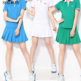 Wholesale Thin Short Skirts - Wholesale-Sexemara New tennis women skorts girl badminton skirt ladies tennis sport skirts shorts thin
