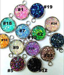 Argentina 100pcs / lot resina druzy Beads para la joyería que hace los encantos flojos de Lampwork DIY Beads para los pendientes del collar de la pulsera al por mayor en bulto precio bajo Suministro