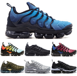 Wholesale Low Sole - Vapormax TN Plus VM Air Sole New Men Women Designer Running Shoes In Metallic Outdoor Fashion Flagship Shoes Gradient Casual Sport Sneakers