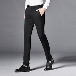 Wholesale Straight Evening Dresses - Hot-selling Mens Silk Cotton Pants Casual Luxury Mens Dress Pants New Styles Evening Dresses Suits Sizes K201