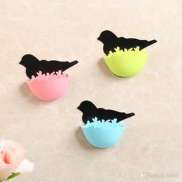 Joyería nido online-Colorful Jewelry Organizer Self Adhesive Birds Nest Forma de cajas de almacenamiento Wall Place Key Mini Case Home Decor 2 3tt ii