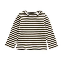 05733f2ccf279 Bébé garçon chemise vêtements enfant en bas âge rayé occasionnels chemises  bébé filles tops t-shirts en coton à manches longues t-shirts