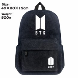 south korean style backpacks Promo Codes - New BTS youth group men's backpack fashion style south Korean women's shoulder bag canvas backpack fashion style