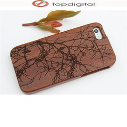Wholesale Natural Wood Iphone Case - Felidio Natural Wooden Case For Iphone Se Hard Case Back Cover For Apple Iphone Se 5s 5 5c Phone Case Luxury Wood Carving Shell