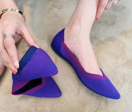zapatillas de ballet planas Rebajas Zapatos poco profundos Zapatos de ballet Embarazadas, con tacón plano, parte inferior suave Tejidos inferiores, zapatos de trabajo ocasionales, tamaño 35 ~ 40 Primavera y verano, estilo nuevo