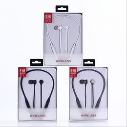 Wholesale iphone headset computer - 2018 BT Bluetooth Sports Earphone In Ear Stereo Headset Earbuds for Computer Headphones Samsung Iphone 7 6s Universal with Retail Package