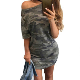 a6f0abd8c 2018 Verão Sexy Mulheres Midi Manga Bandage Bodycon Malha Vestido de  Camuflagem Impressão Magro Skinny Causal Drapeado Curto Mini Vestido