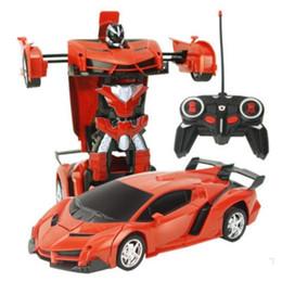 en gros 2 In1 Car Transformation Robots Modèles Télécommande jouet Enfants Enfants ? partir de fabricateur