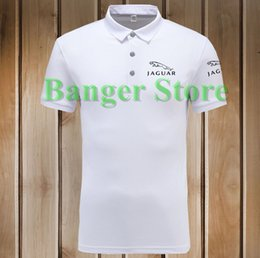 Wholesale Women S Polo - 4 COLOURS Size S - 3XL Brand Women and men's Jaguar Polo Shirt Cotton Anti-pilling Short Sleeve shirt