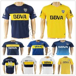 Wholesale boca juniors shorts - 2017 2018 Boca Juniors Soccer Jersey 8 Perez 5 Gago 10 Carlitos 9 Benedetto 7 Pavon 22 Castellani Cubas Zuqui Carrizo Football Shirt
