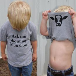 Camisetas infantiles online-Ins Infant Baby Baby Kids Letters camiseta niños niñas Tops Tee manga corta camisetas niños verano camisetas gris 13659