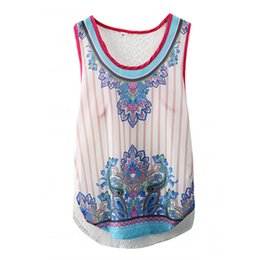 Wholesale Tank Top Hot Girl - 2018 Women Girls New Fashion Sexy Print Transparent Tanks Summer Loose Sleeveless Short Hollow Out Tank Tops Hot