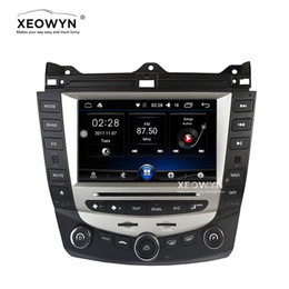2019 wifi hd video mp3 mp4 player Android 6.0 Quad-core reproductor de dvd para automóvil navegación por gps para honda accord 7 2003-2007 EURO radio estéreo para auto / control de clima de una sola zona