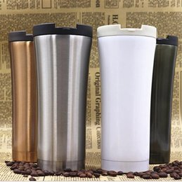 Wholesale Tea Tumbler Wholesale - 500ml Car Coffee Mug Water Bottle Double Wall Stainless Steel Insulated Vacuum Thermos Cup Travel Tea Water Thermal Bottle Tumbler