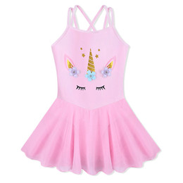 Robe de danse de filles en Ligne-BAOHULU Jolie Petites Filles Ballet Justaucorps Fleurs De Licorne Robe Danse Tutu De Noël Halloween Costume Robe Filles tutu