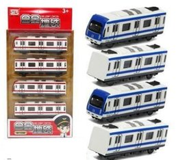 Wholesale Metal Train Sets - NEW Alloy train toy high-speed train subway train with magnetic resonance two styles