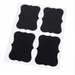 Wholesale Military Switches - 36pcs Blackboard Sticker Black Chalkboard Chalk Labels Board Decals For Home decor Craft Kitchen Jar Organizer Labels