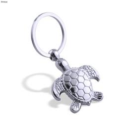 2019 meeresschildkröte anhänger Mode Schildkröte Schlüsselanhänger Persönlichkeit Tier Anhänger Autoschlüssel Halter Simulation Meeresschildkröte Keychain Tasche Charme Zubehör K1736 rabatt meeresschildkröte anhänger