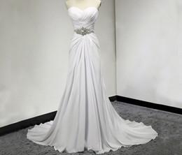 f4e2521d6395 desideri abiti Sconti Bianco avorio nuovo Sweetheart chiffon abito da sposa  Wish Sash Abito da sposa