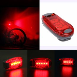 2019 luces de advertencia portátiles Portátil 5 LED USB MTB Road Bike Tail Light Advertencia de Seguridad Recargable Bicicleta Lámpara de Luz Trasera Ciclismo Accesorios de la bici Nuevo rebajas luces de advertencia portátiles
