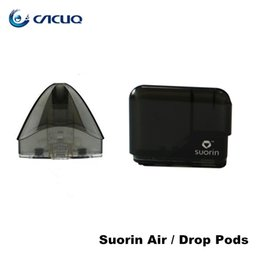 Suorin Drop Cartuchos vacíos Vainas 2ml Suorin Air Recargable Pod Reemplazo Cabezal de bobina para Drop and Air Kit 100% Original desde fabricantes