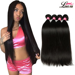 Wholesale Wholesale Black Hair Weave - Brazilian straight Virgin Hair 3 Bundles 8A Brazilian virgin Hair straight Unprocessed Peruvian Malaysian Body virgin Human hair Extensions