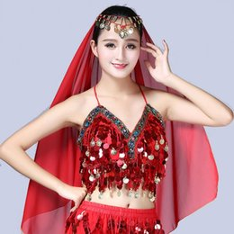 69642f98a7 Women Sequin Halter Bra Latin Belly Dance Tassel Top Party Club Costume Crop  Top W729