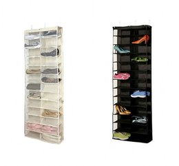 Wholesale Closet Holder - Creative 26 Pocket Shoe Rack Storage Organizer Holder Folding Door Back Closet Hanging Space Saver Bags New Arrival 24my Z