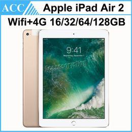 Canada Remis à neuf d'origine Apple iPad Air 2 iPad 6 WIFI + 4G cellulaire 16 Go 32 Go 64 Go 128 Go 9,7 pouces Triple Core A8X Puce Tablet PC DHL 1pcs Offre